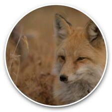 2 x Vinyl Stickers 25cm - Cunning Ginger Fox Wild Animal  #44749