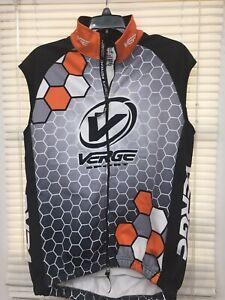 Men's Verge Elite Pelta Thermal Winter Cycling Vest Grey/Black/Orange XL