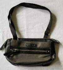 KENNETH COLE REACTION Safekeeper Faux Black Leather Shoulder Crossbody Hand Bag
