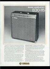 Rare Original Factory Yamaha B30-115 Bass Guitar Amplifier Dealer Sheet Page