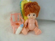 """Vintage 4.5"""" Uneeda Hong Kong Doll with potty chair & bottle potty training help"""