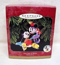 "Hallmark Disney Ornament 1997 ""New Pair of Skates"" Mickey Mouse & Mini Mouse"