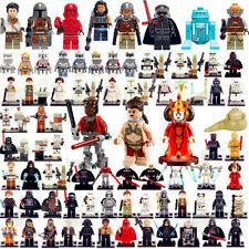 star wars Yoda Darth Vader Luke Rey minifigures C-3PO Boba Fett Mandalorian Toys
