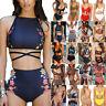 Womens High Waist Bikini Set Push Up Swimsuit Bathing Suit Swimwear Beachwear US