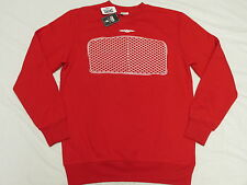 $84 NWT Mens Crooks & Castles Bent Grill Sweatshirt Red Urban Print Size M L864