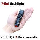 Portable Mini UV Ultra LED Zoom Flashlight Violet Purple Blacklight Torch Lamp