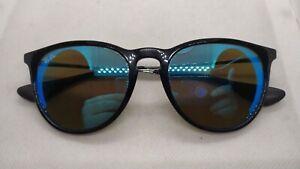 Ray ban Erika rb4171 601/55 black frames  blue mirrored lenses sunglasses