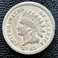 1862 Indian Head Cent One Penny 1c Better Grade #18781