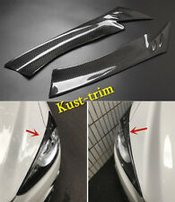 For 2013-2016 MAZDA CX-5  Real Carbon fiber Front Headlight Eyebrows Cover trim