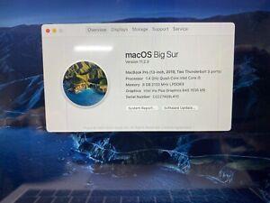 A2159 MacBook Pro 2019 Logic Board i5 1.4GHz 8GB 256GB Touch ID, Matching Base
