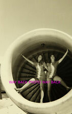 "5"" by 7"" B & W PHOTO REPRINT - PSA AIRLINES STEWARDESSES - SEXY POSE"