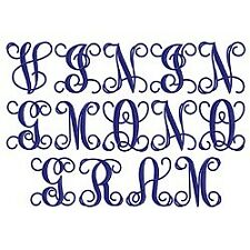 Vining Monogram Font - Machine Embroidery Font