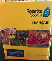 Rosetta Stone LEARN FRENCH 1  CD SET + DIGITAL DOWNLOAD +HEADSET ,VERSION 4
