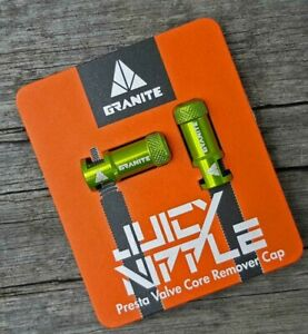 Granite Presta Valve cap core remover Tool Tubeless Enduro MTB Bikepacking. NEW