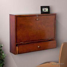 Wall Mount Folding Hideaway Laptop Homework Desk E Saver W Drawer Corkboard