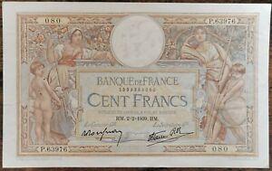 Billet 100 francs LUC OLIVIER MERSON 2 = 2 = 1939 FRANCE P.63976 080