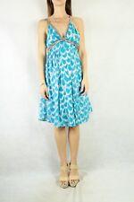 SEDUCE Teal Metallic Silver Pattern Dress Size 6-8