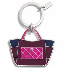 Coach Park Color block Tote Key Chain 66661