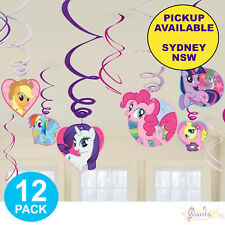 MY LITTLE PONY PARTY SUPPLIES 12 HANGING SWIRL BIRTHDAY DECORATIONS