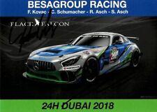 Autogramme, Roland Asch + Sebastian Asch - Besagroup Racing - 24h Dubai 2018