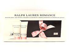 RALPH LAUREN ROMANCE 7ml .25oz MINI + 50ml 1.7oz MOISTURIZER SHOWER GEL GIFT SET