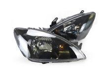 Headlights Pair Black For Mitsubishi Lancer Ch 2003-2007