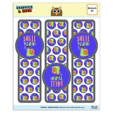 Shell Yeah Hell Yes Snail Funny Humor Set of 3 Glossy Laminated Bookmarks