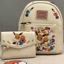 Loungefly Pokémon Eeveelutions Floral Mini Backpack & Wallet NWT