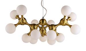 Postmodern minimalist Brass chandelier pending light 15 LED`s Ø 72 cm H 150 cm