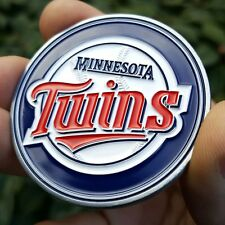 PREMIUM MLB Minnesota Twins Poker Card Protector Collector Coin Golf Marker NEW