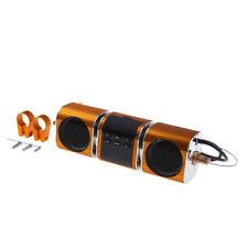 Audio FM Radio MP3 iPod Stereo Speaker Sound System Motorcycle Bike ATV Gold