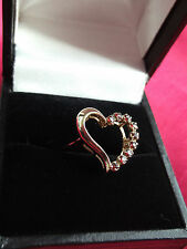 Vintage 'Witches Heart' Bewitched Ring ~ 9ct Gold & Garnets ~ Sheffield Hallmark