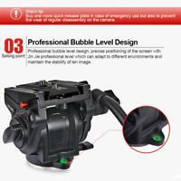 DSLR Video Tripod Head 360 Degree Panoramic Camera Stand Fluid Damping Holder