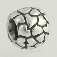 New Pandora Bead Charm - Sterling Silver Lots of Love 790174 Retired Hearts