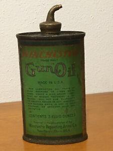 Vintage Green Can of Winchester Gun Oil 3 Fluid Ounces Empty