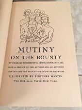 Mutiny on the Bounty by Nordhoff & Hall Heritage Press 1947 Illust by F Brown