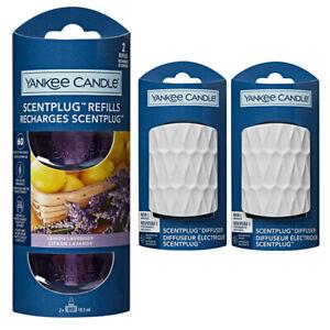 2 x WHITE plugs/REFILLS YANKEE CANDLE Scent Plug In LEMON LAVENDER - STARTER SET