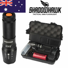 8000lm Genuine Shadowhawk X800 Charge Flashlight LED Zoom Military Torch G700