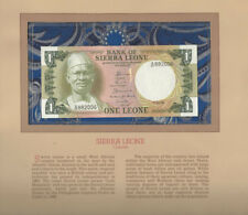 Most Treasured Banknotes Sierra Leone 1 Leone 1.7.1981 P5d Unc Birthday 882006