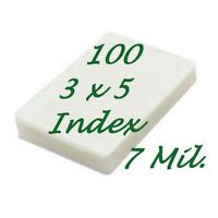 3 x 5 Laminating Laminator Pouches Sheets 3-1/2 x 5-1/2 100 7 Mil Scotch Quality
