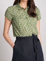 SEASALT Citron Rushmaker Shirt Top Vintage Floral Blouse Organic Cotton rp£37.95