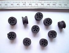 10 pieces 6 x 1.8mm Holes 12.5mm Dia  8mm Deep Rubber Grommets Require 8mm Hole