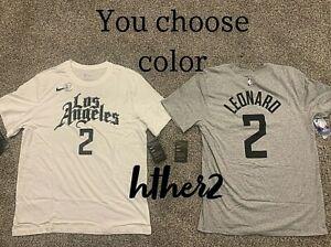 Kawhi Leonard Nike City Edition Los Angeles Clippers Shirt IN HAND  S - 2XL