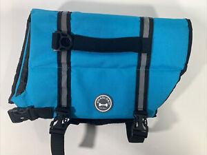 Vivaglory Ripstop Dog Life Vest Reflective & Adjustable Pet Life Jacket Blue - M