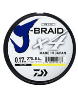 Daiwa J-Braid x4 Fishing Braid Dark Green/Yellow Japanese Line * 270m Spools *