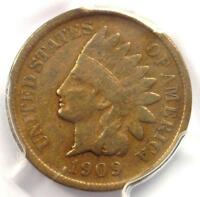 1909-S Indian Cent 1C Coin - PCGS F15 - Rare Key Date Penny - $450 Value!