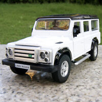 Land Rover Defender 5.3 inches Alloy Diecast Model Cars Pull Back New White Toys