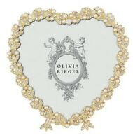 "Olivia Riegel Contessa Frame Heart 3-1/2"" Gold, Silver, OR Rose ~ You Choose!!"