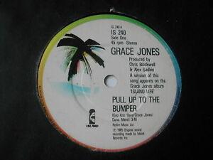 "GRACE JONES - PULL UP TO THE BUMPER - ISLAND 7"""