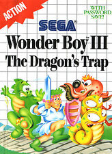 A4 Sega Master System Game Poster – Wonder Boy III The Dragon's Trap (Picture)